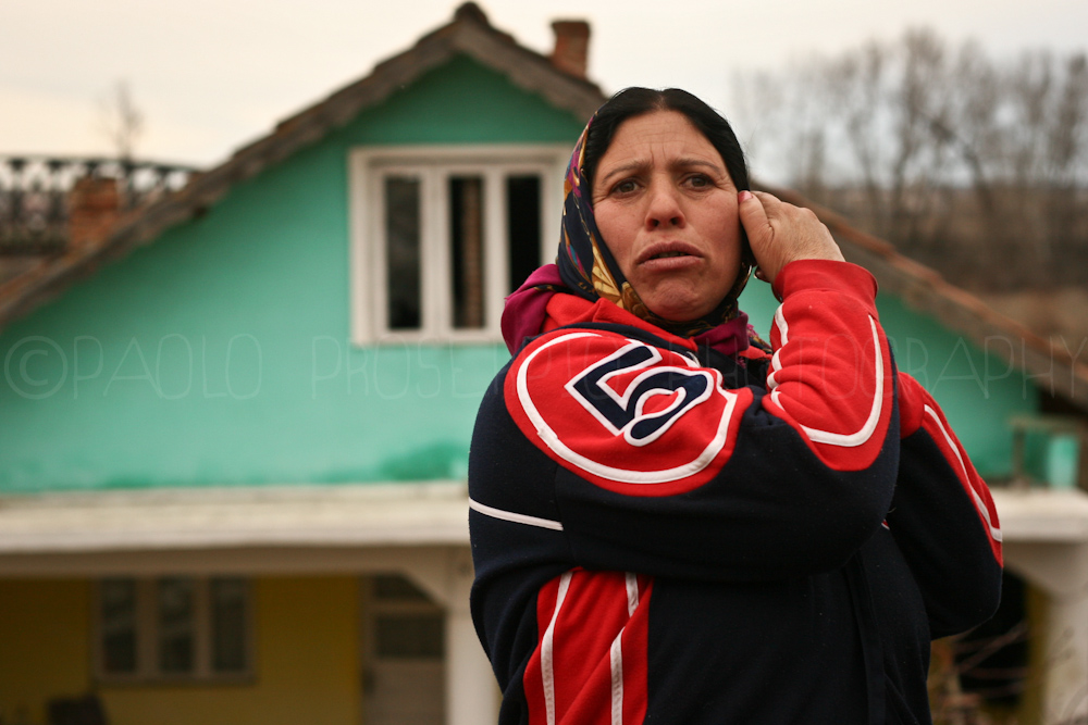 A woman in the Countryside in Romania