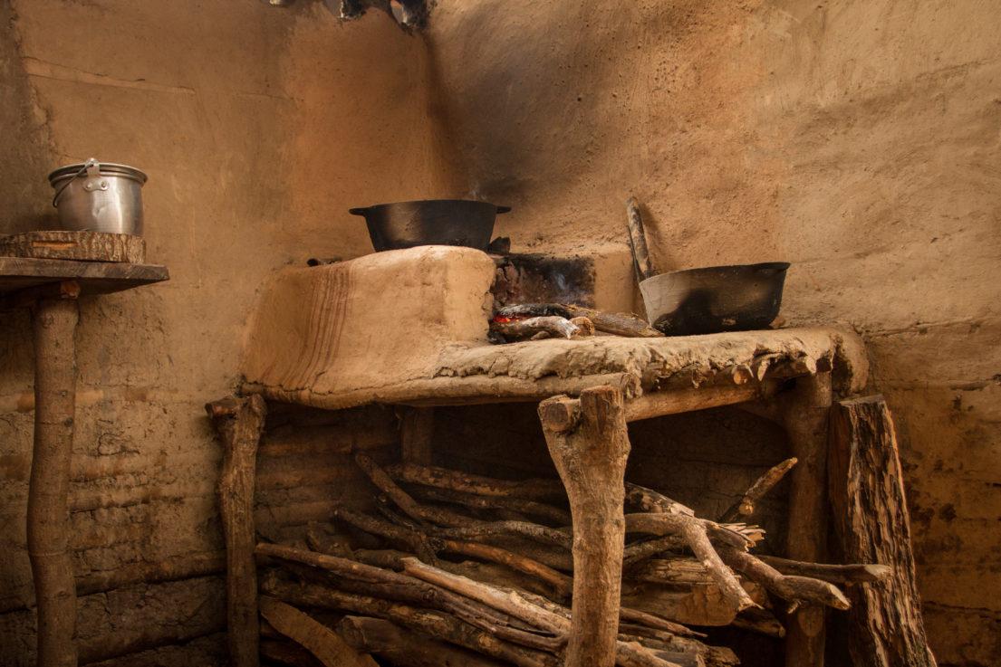Cocina en adobe